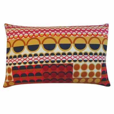 Johari Cotton Lumbar Pillow Color: Maroon