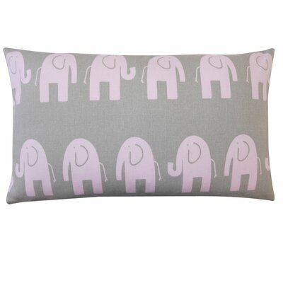 Elephant Outdoor Lumbar Pillow