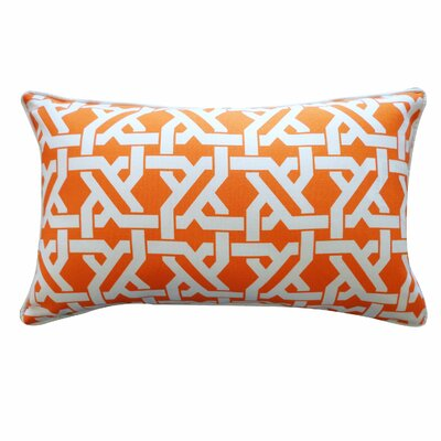 Istanbul Lumbar Pillow Color: Orange