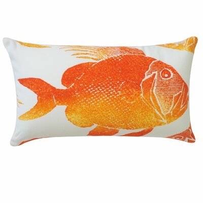 Pescado Lumbar Pillow Color: Orange and Chocolate