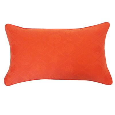 Seashells Lumbar Pillow Color: Orange and Chocolate