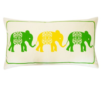 Pi Cotton Lumbar Pillow Color: Green and Yellow