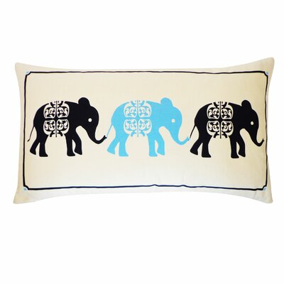 Pi Cotton Lumbar Pillow Color: Sky and Navy