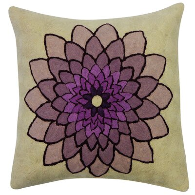 Spin Embroidered Wool Throw Pillow