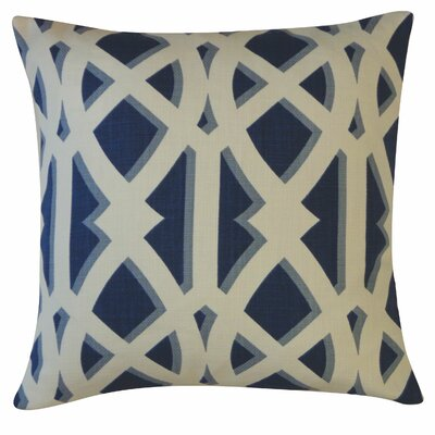 Crossroads Cotton Throw Pillow Color: Navy