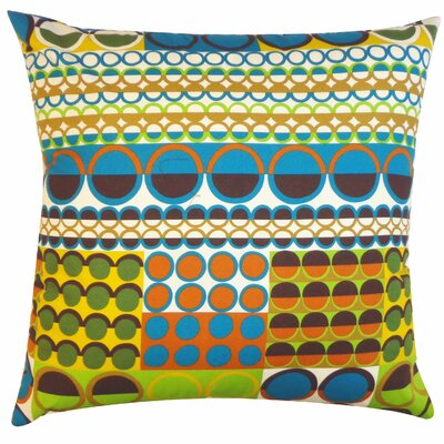 Johari Cotton Throw Pillow Color: Blue