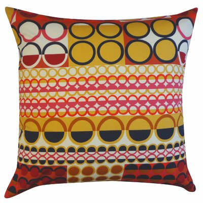 Johari Cotton Throw Pillow Color: Maroon