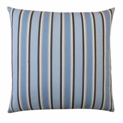 Stripes Outdoor Throw Pillow Color: Blue