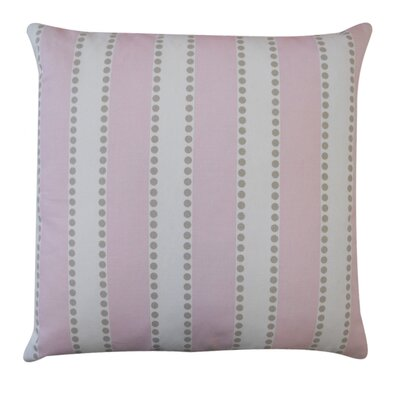 Stripes Outdoor Throw Pillow Color: Pink