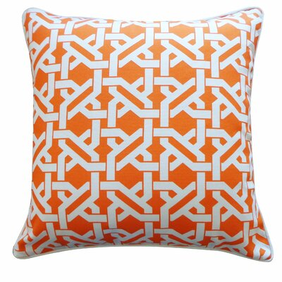 Istanbul Throw Pillow Color: Orange