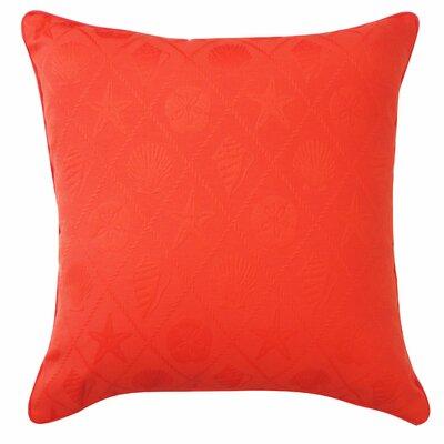 Seashells Throw Pillow Color: Orange