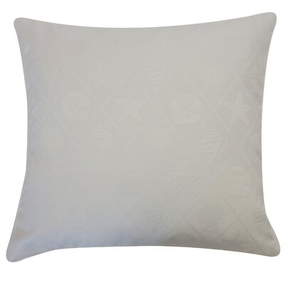 Seashells Throw Pillow Color: White