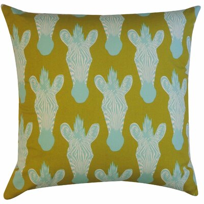 Safari Cotton Throw Pillow Color: Olive
