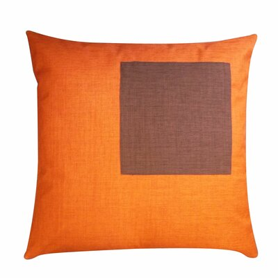 Rebel Outdoor Throw Pillow Color: Orange and Chocolate