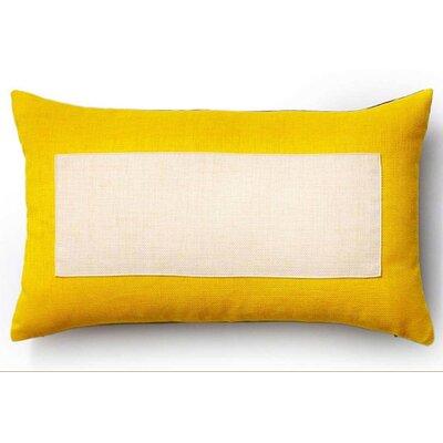 Rebel Window Indoor/Outdoor Lumbar Pillow Color: Yellow and Chocolate