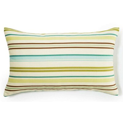 Thin Horizontal Stripes Indoor/Outdoor Lumbar Pillow Color: Aqua