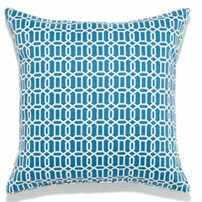 Mosaic Indoor/Outdoor Throw Pillow Color: Blue