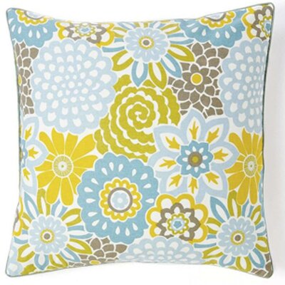 Bloom Cotton Throw Pillow Color: Sky