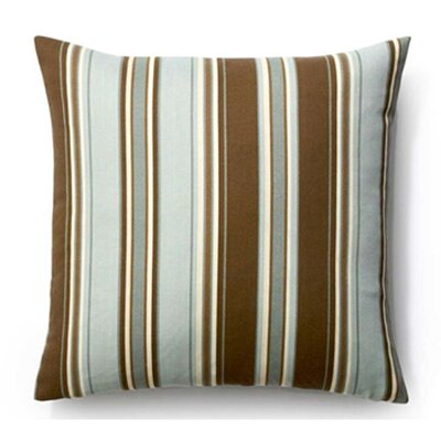 Thick Stripes Indoor/Outdoor Throw Pillow Color: Spa