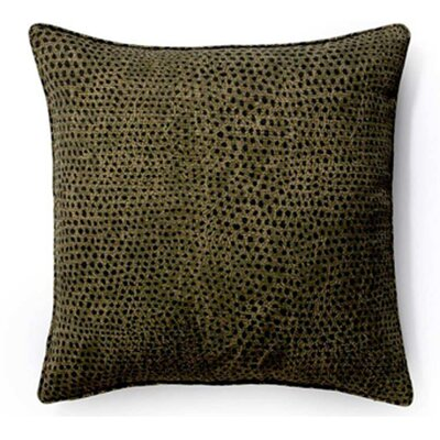 Cheetah Indoor/Outdoor Throw Pillow Color: Ebony, Size: 26 x 26