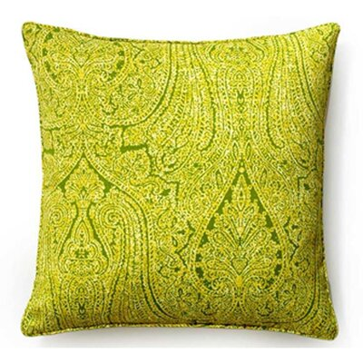 Paisley Indoor/Outdoor Throw Pillow Color: Green, Size: 20 x 20