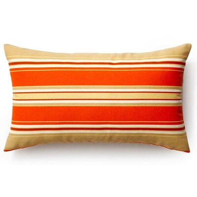 Thick Stripes Indoor/Outdoor Lumbar Pillow Color: Orange, Size: 12 x 20
