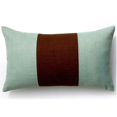 Rebel Outdoor Lumbar Pillow Color: Chocolate and Mint