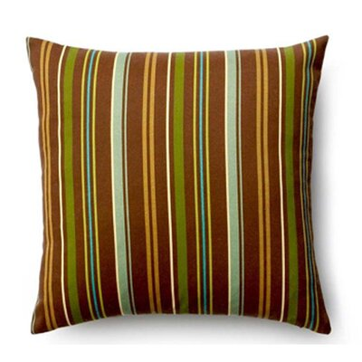 Thin Stripe Synthetic Throw Pillow Color: Brown