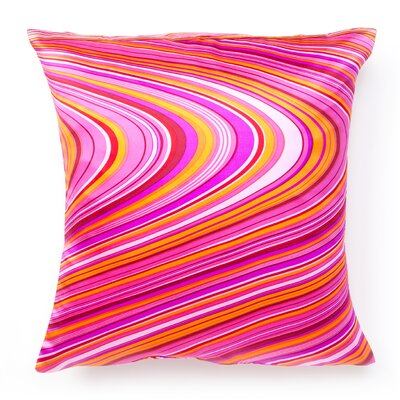 Psychedelic Silk Throw Pillow