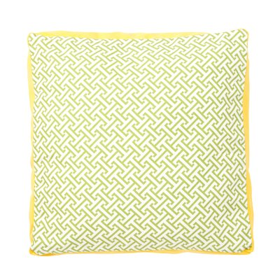 Maze Box Cotton Throw Pillow Color: Green and Yellow