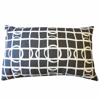 Planet Cotton Lumbar Pillow Color: Black