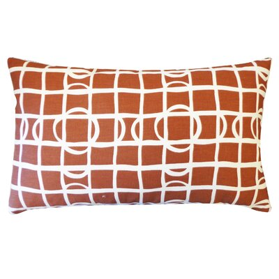Planet Cotton Lumbar Pillow Color: Brown