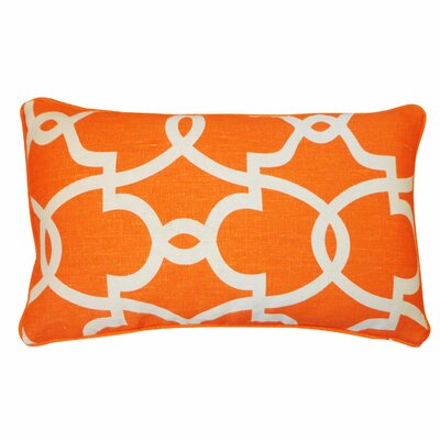 Dean Cotton Lumbar Pillow Color: Orange/Cream