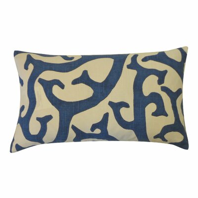 Reef Cotton Lumbar Pillow Color: Blue