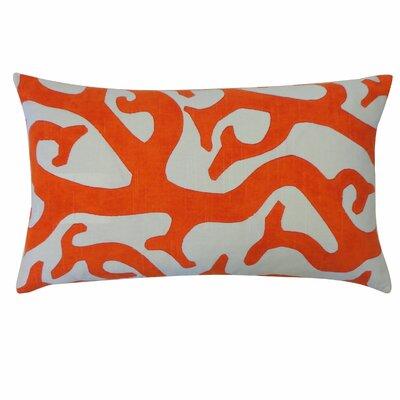 Reef Cotton Lumbar Pillow Color: Orange