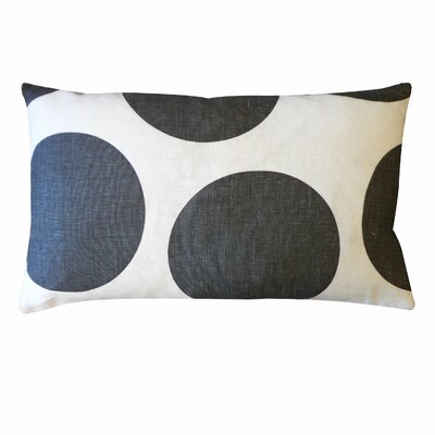 Ball Cotton Lumbar Pillow Color: Black