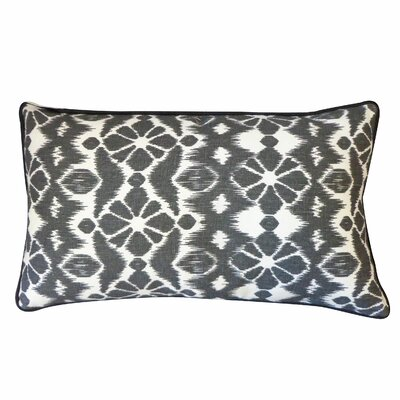 Tree Cotton Lumbar Pillow Color: Black