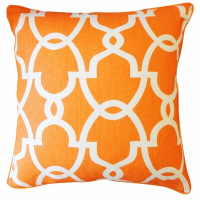 Dean Cotton Throw Pillow Color: Orange/Cream