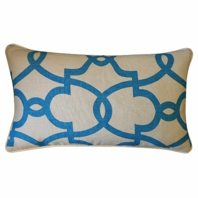Dean Cotton Lumbar Pillow Color: Cream/Turquoise