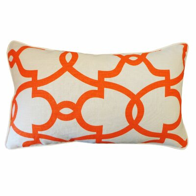 Dean Cotton Lumbar Pillow Color: Cream/Orange