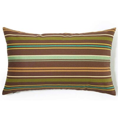 Thin Stripe Outdoor Lumbar Pillow Color: Brown