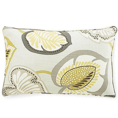 Hosta Lily Lumbar Pillow Color: Celadon