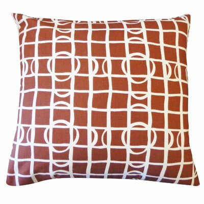 Planet Cotton Throw Pillow Color: Brown