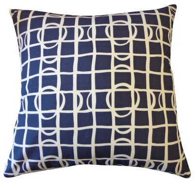 Planet Cotton Throw Pillow Color: Navy