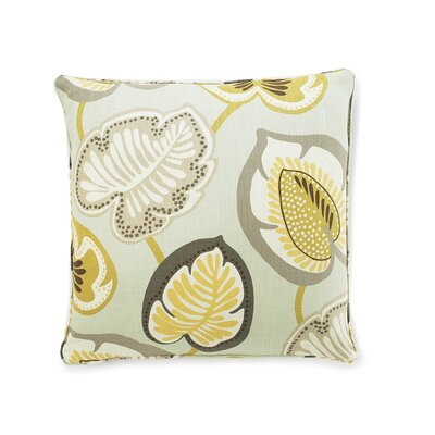 Hosta Lily Cotton Throw Pillow Color: Celadon