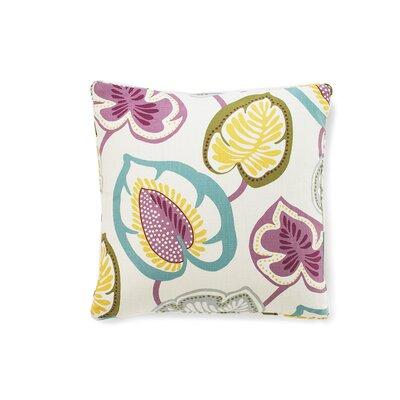 Hosta Lily Throw Pillow Color: Alabaster