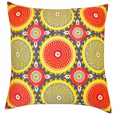 Coins Cotton Throw Pillow Color: Rust