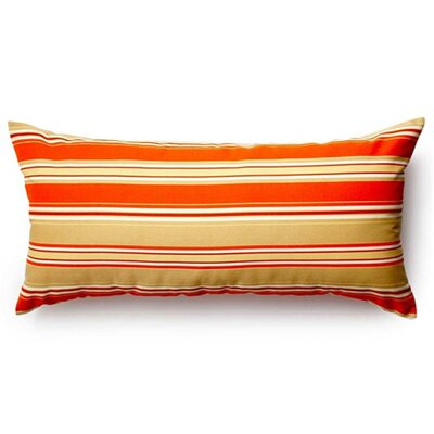 Thick Stripe Outdoor Lumbar Pillow Color: Orange
