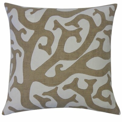 Reef Cotton Throw Pillow Color: Taupe