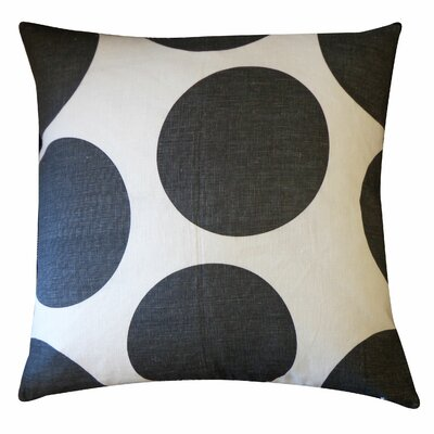 Ball Cotton Throw Pillow Color: Black